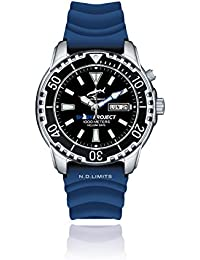 Chris Benz DEEP 1000M SHARKPROJECT EDITION CB-1000-SP-KBB Automatic Mens Watch Diving Watch