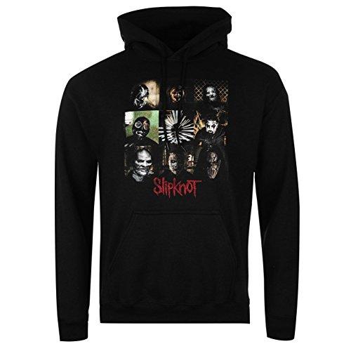 Official Slipknot Herren Hoodie Kapuzenpullover Langarm Sweatshirt Hoody Blocks Medium (Reißverschluss Slipknot)