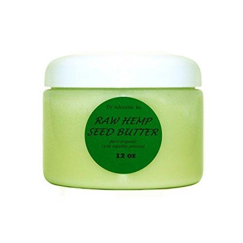 Hemp Seed Butter Organic 100% Pure Raw 12 Oz