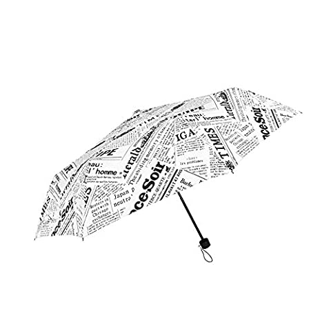 WILLIAM&KATE Travel Windproof Newspaper Funny Creative Three Fold Sunny Umbrella Outdoor Use