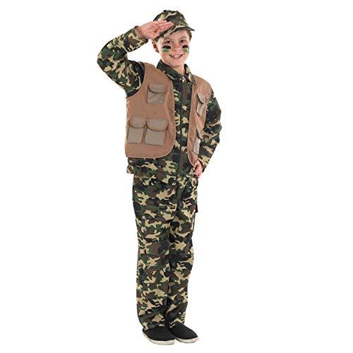 Fun Shack FNK2978S Kostüm, Boys, Army Uniform, Größe S (Camo Soldat Kinder Kostüm)