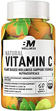 Bigmuscles Nutrition Natural Vitamin C & Zinc Tablets, Immunity, Antioxidant, Skincare (60 tablets) Orange