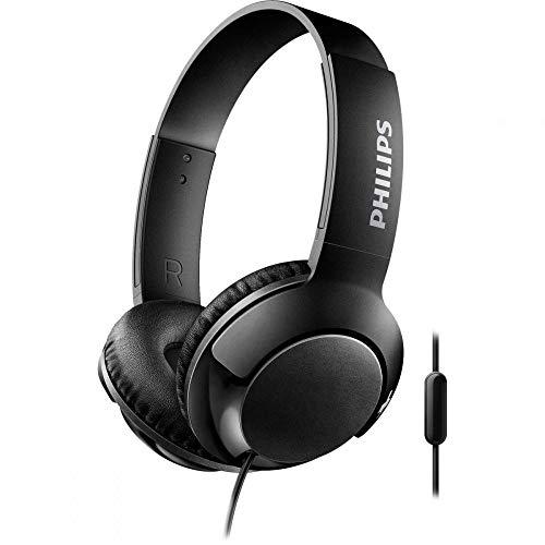 Philips SHL3075BK BASS+ On-Ear Kopfhörer mit Mikrofon (Geräuschisolation, satter Sound, starker Bass) schwarz thumbnail