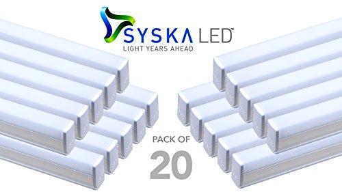 Syska SSK-T5-18W 18-Watt LED Tube Light (Pack of 20, Cool Day Light) (Cool Day Light)