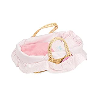 Petitcollin Petitcollin800106 Doll Moses Basket, Multi-Color