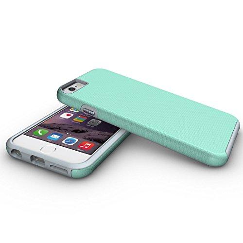 BING Für iPhone 6 / 6s, Ball Texture Anti-Rutsch-PC + TPU schützende rückseitige Abdeckungs-Fall BING ( Color : Black ) Green
