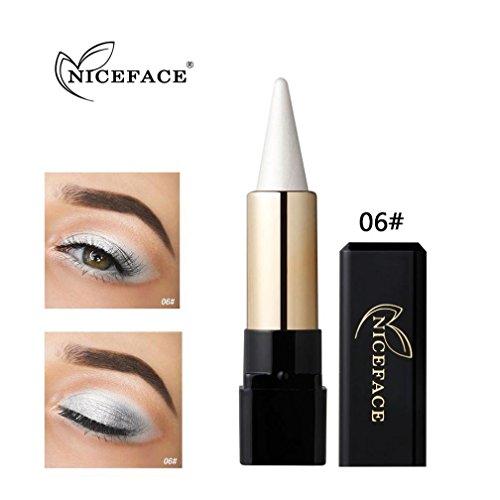 Fards à paupières, Sansee Beauté Eyeliner imperméable à l'eau Crème Eye Liner Pen Crayon Eye Shadow Gel Maquillage (#06)