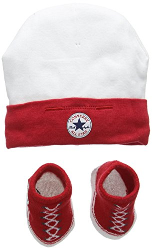 Converse Hat and Bootie, Set Unisex-Bimbi, Multicolore (Red), 0/6 mesi (Taglia Produttore: 0-6M)