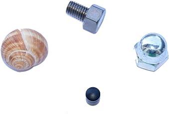 geo-versand Unisex Adult 4er Set Geocaching Verstecke für die Stadt-Weinbergschnecke, Hutmutter, Nano und magnetische Schraube mit Logstreifen