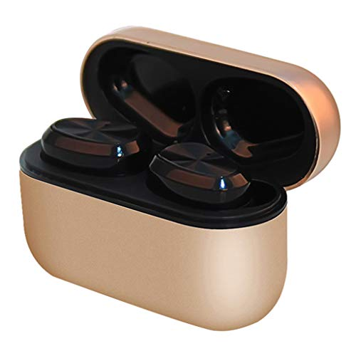 Bluetooth Kopfhörer In Ear Ohrhörer Kabellos Noise Cancelling Kopfhörer Sport Wireless Bluetooth(Gold)
