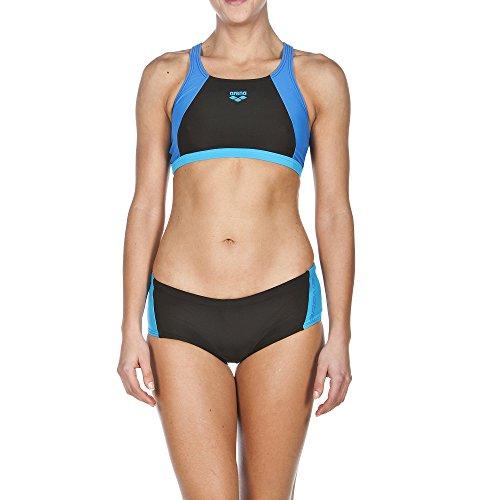 arena Damen Sport Drom Bikini Black/Turquoise/Pix Blue