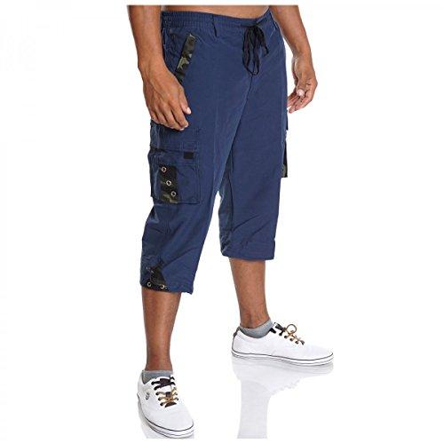 BEZLIT Herren Cargo Bermuda Shorts Kurz Hose Sommer Pasteur Capri Casual Vintage 2074 Blau Größe M (Hose 4 3)