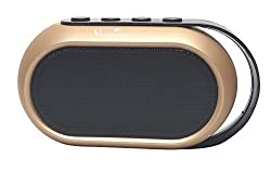 Vingajoy VJ - 49 Wireless Bluetooth Speaker with Enhanced Bass & support for SD Card and Pen Drive powered by Rechargeable Battery (6 hours backup) - Color Golden