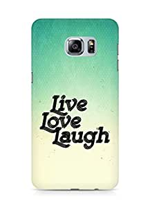 Amez Live Love Laugh Back Cover For Samsung Galaxy S6 Edge Plus