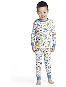 Hatley Organic Cotton Long Sleeve Printed Pyjama Set, Conjuntos de Pijama para Niñas