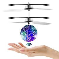Joy-Fun Flying Ball Helicopter Toy Drones for Kids Toys for Adults Cool Toys with Flashing LED Lights