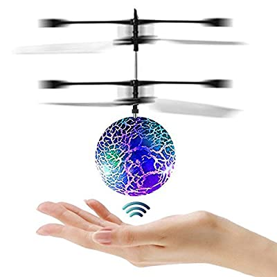 Joy-Fun Flying Ball Helicopter Toy Drones for Kids Toys for Adults Cool Toys with Flashing LED Lights from Joy-Fun