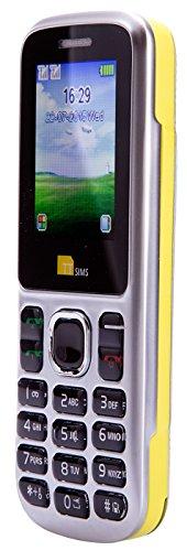 TTsims TT130 - Tel  fono m  vil  Dual SIM  c  mara  Bluetooth  funci  n linterna  radio MP3 MP4  ranura para tarjeta de memoria  color amarillo