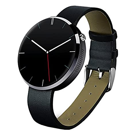 LuckyNV DM360 Bluetooth Smartwatch 128MB+32MB Heart Rate Pedometer Anti-lost Handfree