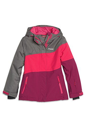 ROSSI Mädchen Freeride Skijacke- 8.000er Wassersäule Ski-Jacke Kinder Blouson Sport Outdoor Winter pink,146/52