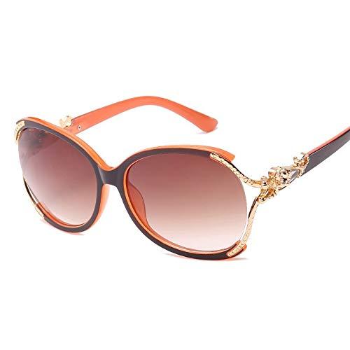YUHANGH Großen Rahmen Luxus Frauen Sonnenbrillen Persönlichkeit Eyewear Frosch Spiegel Dame Weibliche Sonnenbrille Brille Brillen