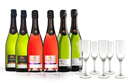 San Jamon - Colección Cavas Hill 1887 y 6 copas de champagne