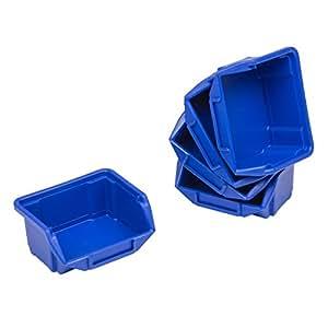 10x boîtes bac a bec dimension 0 bleu atelier vis clou petits trucs 90x110x50