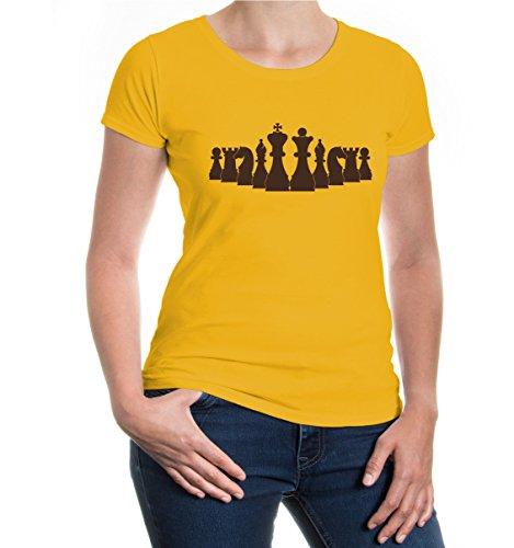 buXsbaum® Girlie T-Shirt Chess-Set Sunflower-Brown