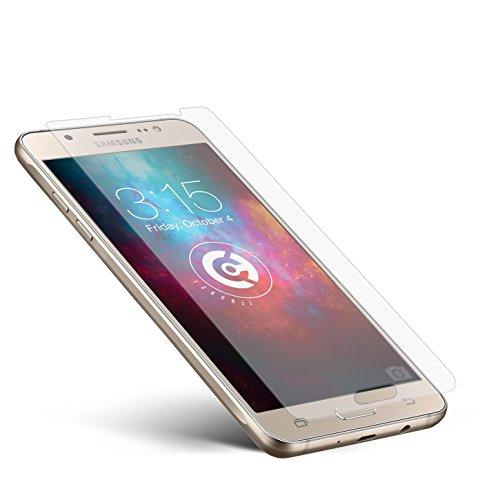 cTRON21 Panzerglas Folie kompatibel mit Samsung Galaxy J5 [2016] Schutzfolie Hartglas 9H Anti-Bläschen Panzerfolie Handy Bildschirmschutzfolie