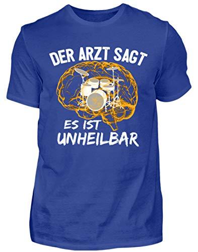 Schlagzeug Shirt · Drummer · Geschenk für Schlagzeuger · Motiv: Es ist unheilbar - Herren Premiumshirt -3XL-Royal Blau