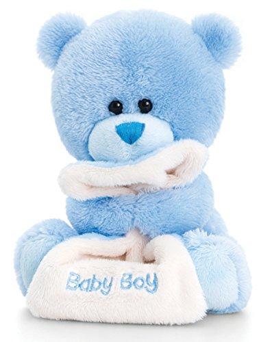 Teddy, Pipp The Bear Kuscheltier Baby Boy mit Schmusedecke hellblau, Stofftier 14 cm ()