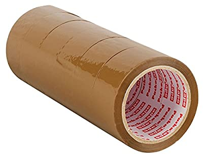 Packatape Brown Packaging Tape for Parcels and Boxes. This 6 roll pack of Heavy Duty Brown Packing Tape Provides a Strong, Secure and Sticky Seal for your Boxes - 6 Rolls 48MM x 66M