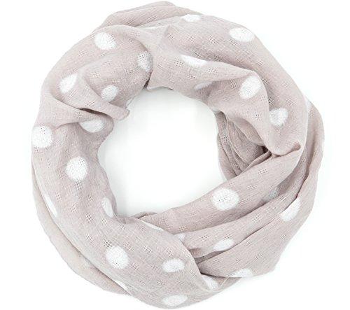 Outfits Up Girl Pin (süßer Damen Loop Schal Schlauchschal Punkte Dots Tupfen (8449))