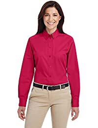 Ladies Foundation 100% Cotton Long-Sleeve Twill Shirt with Teflono - BLACK - XS