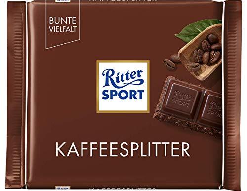 RITTER SPORT Kaffeesplitter (12 x 100 g), Halbbitterschokolade, mit karamellisierten...