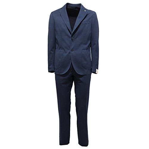 2506Q abito uomo L.B.M. 1911 blu cotone suit men [50]