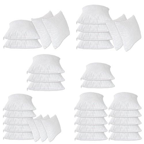 Nurtextil24 Füllkissen 2er 4er 6er 8er 10er Sparpack Inlett 100% Baumwolle 22 Größen in Weiß mit Reißverschluss 2er Pack 55 x 55 cm