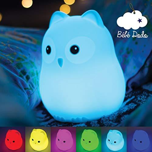Veilleuse Bébé & Enfant [Bébé Dodo] - Lumière LED douce et apaisante - Veilleuse nomade rechargeable par USB