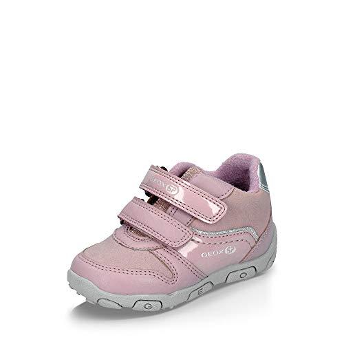 Geox SP Geox B942ZB 05402 C8360 Balu Mädchen Lauflernschuh aus Velours- und Nappaleder, Groesse 25, rosa