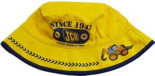 Garçons Joey JCB Digger Summer Sun Bucket Hat Jaune