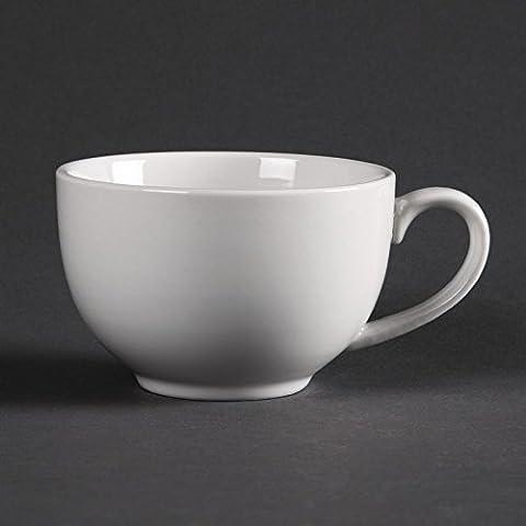 12X Olympia Whiteware Elegant Cups 230ml 8oz Coffee Espresso Milk