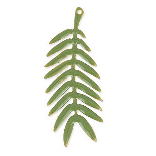 pendente-foglia-di-palma-smalto-epossidico-435-mm-verde-oliva-dorato-satinato-x1