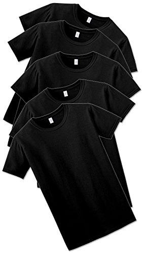 5 Pack GILDAN Softstyle Männer Herren Arbeitskleidung T-Shirts brandneue Großhandel T-Shirts , alle Farben und Größen (Medium Mens 38-40 Inch Chest, Black)
