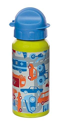 sigikid, Jungen, Trinkflasche Fahrzeuge, Traffic, Blau/Grün, 24676