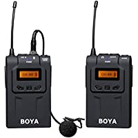 Boya by-wm6Grabador de Audio micrófono inalámbrico para Eng EFP cámara réflex Digital/videocámaras–Negro