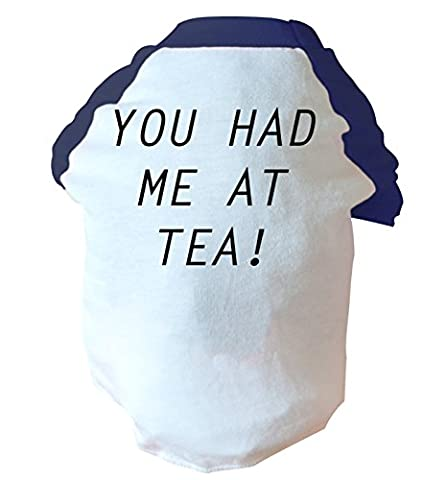You had me at tea two toned dog vest   pink or blue   Flox Creative
