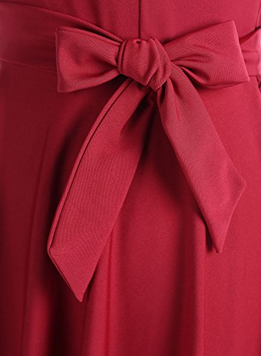 Dressystar Robe femme soirée/bal de vintage avec tulle sans manches Rouge