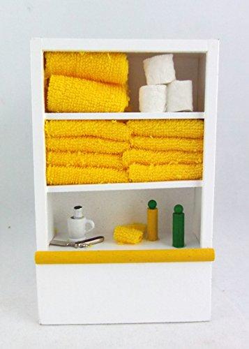 Casa Di Bambole Mobili In Miniatura Bianco Scaffale Di Bagno & Accessori Limone