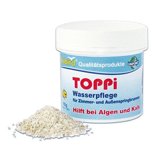 TOPPI - 150g - Wasserpflege für Zimmer- und Außenspringbrunnen - Algen, Kalk, Kalkprodukte, Kalkmittel, Algenmittel
