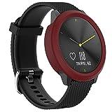 AmaSells Garmin vivomove HR Watch Mode Sport Uhr Smart Watch Silikon Weicher Fall Abdeckungs Haut Schutz Stoßdämpfer für Herren Damen (Wein)